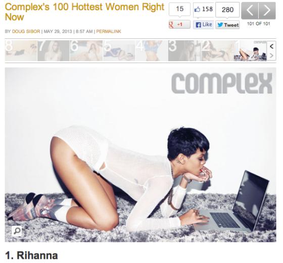 rihanna hottest woman complex magazine